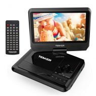 DBPOWER TENKER 9.5 Portable DVD Player with Swivel Screen, Rechargeable Battery and SD Card Slot & USB Port, Black
