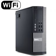 Dell Optiplex 9020 Small Form Business Desktop Tower PC (Intel Quad Core i7 4770, 16GB Ram, 240GB Brand New SSD, WIFI, Dual Monitor Support HDMI + VGA, DVD-RW, WIFI) Win 10 Pro (Ce