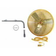 Dayton 24 Industrial Wall-Mounted Safety Yellow Air Circulator