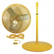 Dayton 30 Industrial Wall-Mounted Safety Yellow Air Circulator