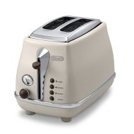DeLonghi Pop-up toaster 「ICONA Vintage Collection」CTOV2003J-BG (Dolce Beige)【Japan Domestic genuine products】