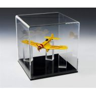 Displays2go Clear Acrylic Memorabilia Display Case with Removable Cover and Acrylic Ring