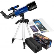 CSSEA 70mm Telescope for Kids and Astronomy Beginners, Travel Scope with Adjustable Tripod & Finder Scope & Two Eyepieces(K25mm & K10mm)-Perfect for Children Educational and Gift (