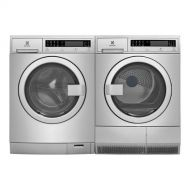 Electrolux Stainless Steel Front Load Compact Laundry Pair with EFLS210TIS 24 Washer and EFDE210TIS 24 Electric Dryer