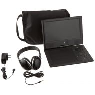 Ematic Portable DVD Player with 9-inch LCD Swivel Screen, Travel Bag and Headphones, Black