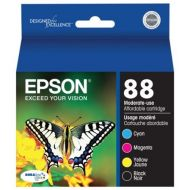 Epson 88 Moderate-capacity BlackColor Combo Pack Ink Cartridge - for Stylus CX4450, CX7450, N11