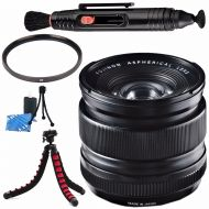 Fujifilm XF 14mm f2.8 R Ultra Wide-Angle Lens 16276481 + 58mm UV Filter + Lens Cleaning Kit + Lens Pen Cleaner + Flexible Tripod Bundle