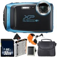 Fujifilm FinePix XP130 Waterproof Digital Camera 2018 Version (Sky Blue) Bundle with 16GB Memory Card - International Version with 1 Year Seller Warranty