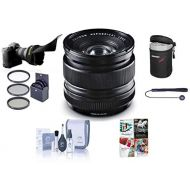 Fujifilm XF 14mm (21mm) F2.8 R Lens - Bundle with 58mm Filter Kit, Lens Case, Flex Lens Shade, Cleaning Kit, Capleash, and Professional Software Package