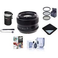 Fujifilm XF 35mm (53mm) F1.4 Lens - Bundle with 52mm Filter Kit, Lens Pouch, Capleash, Cleaning Kit, Lens Wrap, Software Package