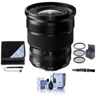Fujifilm XF 10-24mm (15-36mm) F4.0 OIS Lens - Black - Bundle With 72mm Filter Kit (UVCPLND2), Lens Wrap (19x19), Capleash II, Cleaning Kit, LensPen Lens Cleaner