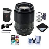 Fujifilm XF 90mm (137mm) F2 R LM WR Lens - Bundle with 62mm Filter Kit, Flex LensShade, Lens Wrap, Lens Case, Cleaning Kit, Professional Software Package