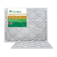 FilterBuy AFB Gold MERV 11 20x25x1 Pleated AC Furnace Air Filter. Pack of 2 Filters. 100% produced in the USA.