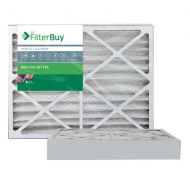 FilterBuy AFB Platinum MERV 13 20x25x4 Pleated AC Furnace Air Filter. Pack of 2 Filters. 100% produced in the USA.