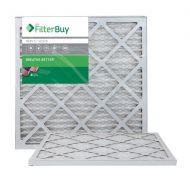 FilterBuy AFB Silver MERV 8 20x20x1 Pleated AC Furnace Air Filter. Pack of 2 Filters. 100% produced in the USA.