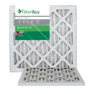 FilterBuy AFB Silver MERV 8 12x18x1 Pleated AC Furnace Air Filter. Pack of 2 Filters. 100% produced in the USA.