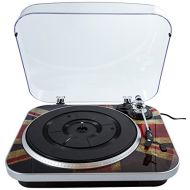GPO Jam 3-Speed Stand Alone Vinyl Turntable with Built-In Speakers - Union Jack