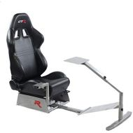 GTR Simulator Touring Model with Real Racing Seat, Driving Simulator Cockpit Gaming Chair with Gear Shifter Mount