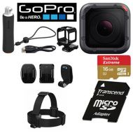 GoPro Hero5 Session CHDCA-501 Action Camera Bundle - 10.0 Megapixel - 4K - 16 GB microSD - USB - Black