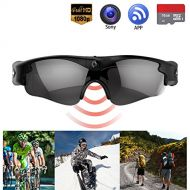 Gogloo Camera on Glasses - 1080P Spy Video Sunglasses with Camera | Wide Angle View, Anti Glare Camera Glasses & UV Protection Eyewear,Lightweight Frame,Unisex Design - For Sports,Riding,