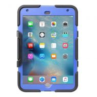 Griffin Technology Griffin, iPad Mini 4 Case with Stand, Black and Blue Survivor All-Terrain, [Rugged] [Protective] [Dual Layer] [Heavy Duty] [Shock Absorption] [Polycarbonate] [Silicone]