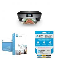 HP ENVY Photo 7155 All in One Photo Printer with Wireless Printing, Instant Ink ready - Black with Snapshots and Instant Ink Prepaid Card