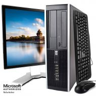 HP Elite Desktop PC Package, Intel Core 2 Duo Processor, 8GB RAM, 500GB Hard Drive, DVD-RW, Wi-Fi, Windows 10 Pro, 19in LCD Monitor (Renewed)