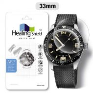 Smartwatch Screen Protector Film 33mm for Healing Shield AFP Flat Wrist Watch Analog Watch Glass Screen Protection Film (33mm) [3PACK]