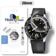 Smartwatch Screen Protector Film 28mm for Healing Shield AFP Flat Wrist Watch Analog Watch Glass Screen Protection Film (28mm) [3PACK]