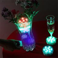 Hengnuo 2Pack Submersible LED lights Remote Controlled Wireless Muti Color Waterproof Flashing Light-Halloween For Wedding Party Pond Swimming Pool Fish Tank Decoration