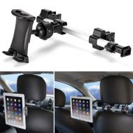 IKross iKross Car Tablet Mount Holder Universal Backseat Headrest Extendable Mount for Apple iPad, iPhone, Tablet, Smartphone, Nintendo Switch with Dual Adjustable Positions and 360° Rota