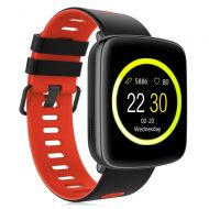 Kingwear Smart Watch GV68 Waterproof for Android & iOS for Android & iOS Built-In Mic and Speaker, Bluetooth, Sleep & Heart Rate Monitor, Pedometer, Remote Camera Men, Women (Red)