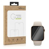Kalibri kalibri Tempered Glass Screen Protector - Curved Protective Display Film for Apple Watch 44mm (Series 4) - Black Frame