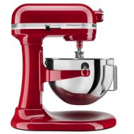 KitchenAid R-KV25G0XER PROFESSIONAL 5 PLUS STAND MIXER 5-QUART METAL EMPIRE RED (Certified Refurbished)