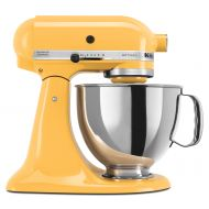 KitchenAid KSM150PSFL Artisan Series 5 Quart Tilt-Head Stand Mixer, Matte Fresh Linen