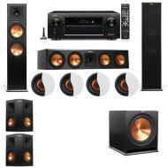 Dolby Atmos 5.1.4 Klipsch RP-280F Tower Speakers R-115SW with Denon AVR-X6300H