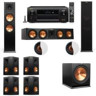 Dolby Atmos 7.1.2 Klipsch RP-280F Tower Speakers R115SW with Denon AVR-X6300H