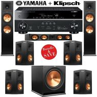 Klipsch RP-280F 7.1 Reference Premiere Home Theater System with Yamaha RX-V681BL 7.2-Ch Network AV Receiver