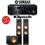 Yamaha R-N803BL Network Stereo AV Receiver + Klipsch RP-280F + Klipsch R-115SW - 2.1-Ch Home Theater Package