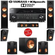 Klipsch RP-280FA 5.1.2 Dolby Atmos Home Theater Speaker System with Yamaha RX-A760BL 7.2-Ch AV Receiver