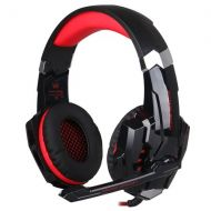 Kotion KOTION EACH G9000 3.5mm Gaming Headphone Game Headset Noise Cancellation Earphone with Mic LED Light Black-red for PS4 Laptop Tablet Mobile Phones