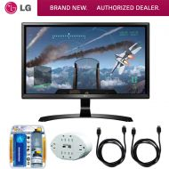 LG 24 16:9 4K UHD (3840 x 2160) FreeSync IPS Monitor (24UD58-B) with 2x General Brand HDMI to HDMI Cable 6