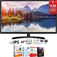 LG 32MP58HQ-P 32 Full HD IPS LED Monitor 1920 x 1080 + Elite Suite 18 Standard Editing Software Bundle + 1 Year Extended Warranty