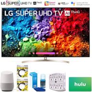 LG 65SK9500PUA 65 Super UHD 4K HDR AI Smart TV wNano Cell 2018 Model (65SK9500PUA) + Google Home, 2X 6ft HDMI Cable, Screen Cleaner for LED TVs, 6-Outlet Surge Adapter & $100 Hulu