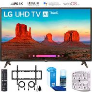 LG 49UK6300 49 UK6300 Smart 4K UHD TV (2018) with Wall Mount + Cleaning Kit (49UK6300PUE)