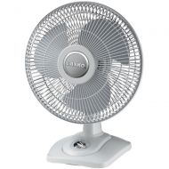 Lasko D12900 Oscillating Premium Table Fan, 12, Light Grey