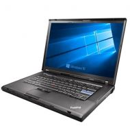 Refurbished Lenovo ThinkPad T500 Laptop, Intel Core 2 Duo 2.26GHz, 2GB DDR3, 120GB SATA HDD, DVD+CDRW, Windows 10 Home 32bit installed w restore partition