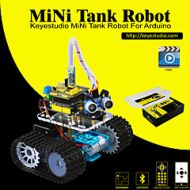 Lightinthebox Keyestudio DIY Mini Tank Smart Robot Car Kit for Arduino Robot Starter ManualPDF Installation VideoDemo Video5 Projects