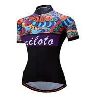 76023fa9fad Lightinthebox Miloto Womens Short Sleeve Cycling Jersey - Black Patterned  Plus Size Bike Jersey Top,