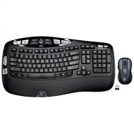 Logitech MK550 Wireless Wave Keyboard and Mouse Combo  Includes Keyboard and Mouse, Long Battery Life, Ergonomic Wave Design